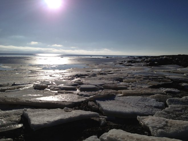Ice by the sea in Varberg