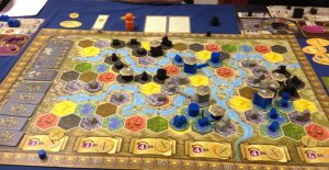 Final standing in Terra Mystica 139 Darklings, 125, Dwarfs, 94 Swarmlings