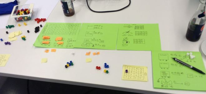 LunarBots the Boardgame in prototyping