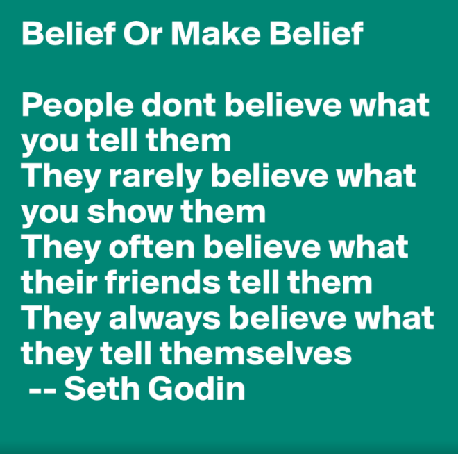 Belief Or Make Belief