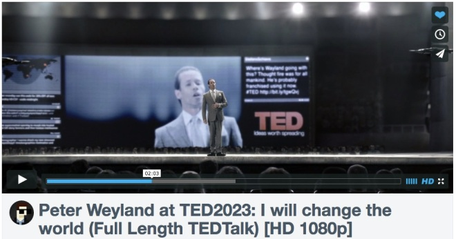 Peter Weyland on TED 2023