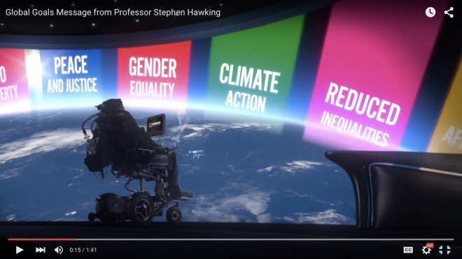 Stephen Hawkin - The Global Goals