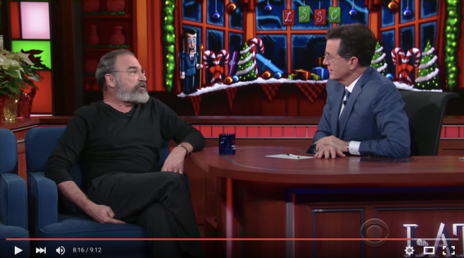"Mandy Patinkin on The Late Show with Stephen Colbert - ""The line between good and evil runs through each one of us"""