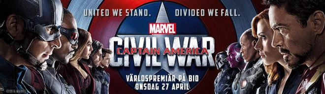United we stand - Divide we fall -- Captain America: Civil War - 27 April in Sweden