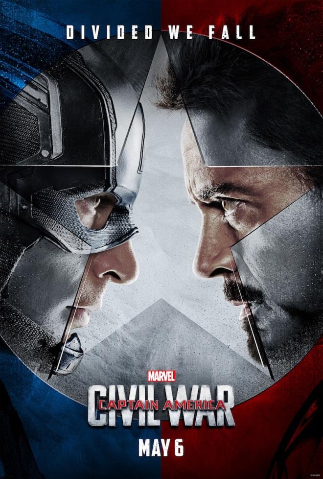 United we stand - Divide we fall -- Captain America: Civil War - 27 April in Sweden